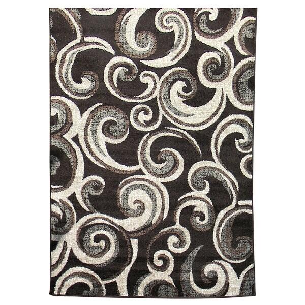 Lexington 442 Chocolate Small Swirl Design Rug (5 x 7)