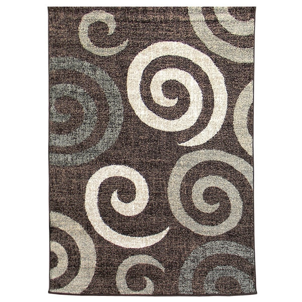 Lexington Chocolate 431 Large Swirl Design Rug (5 x 7)