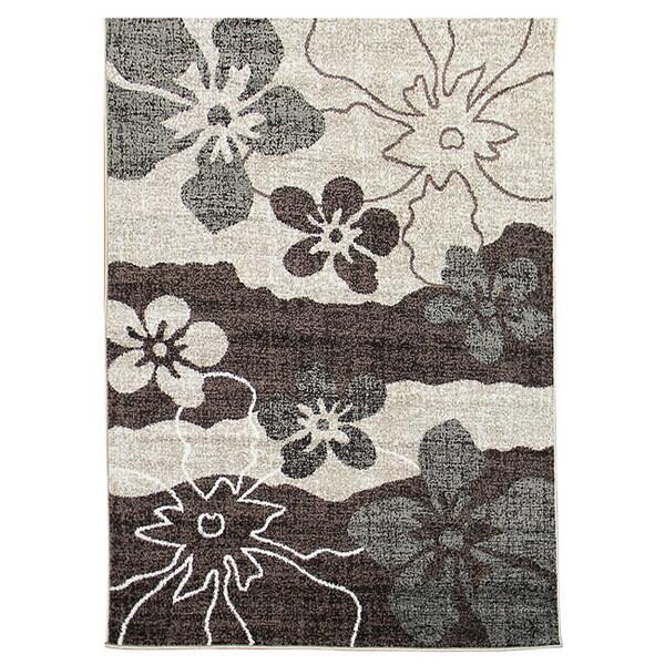 Lexington Chocolate 434 Flower Abstract Design Rug (5 x 7)
