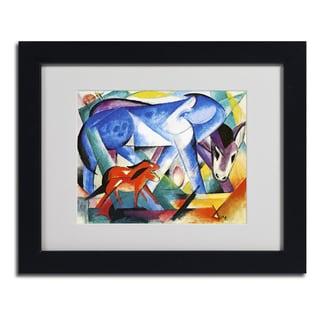 Franz Marc 'The First Animals' Framed Matted Art