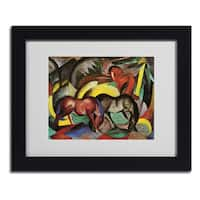 Franz Marc 'Three Horses' Framed Matted Art