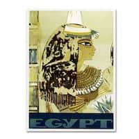 Vintage Apple Collection 'Visit Egypt Cleopatra' Canvas Art