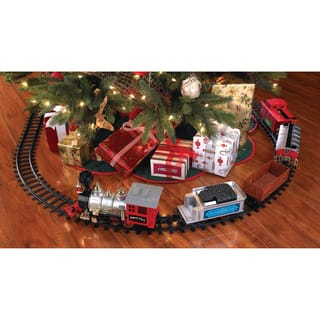 Blue Hat North Pole Junction Christmas Train Set|https://ak1.ostkcdn.com/images/products/8431124/P15727697.jpg?impolicy=medium