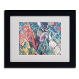 Franz Marc 'In the Rain' Framed Matted Art