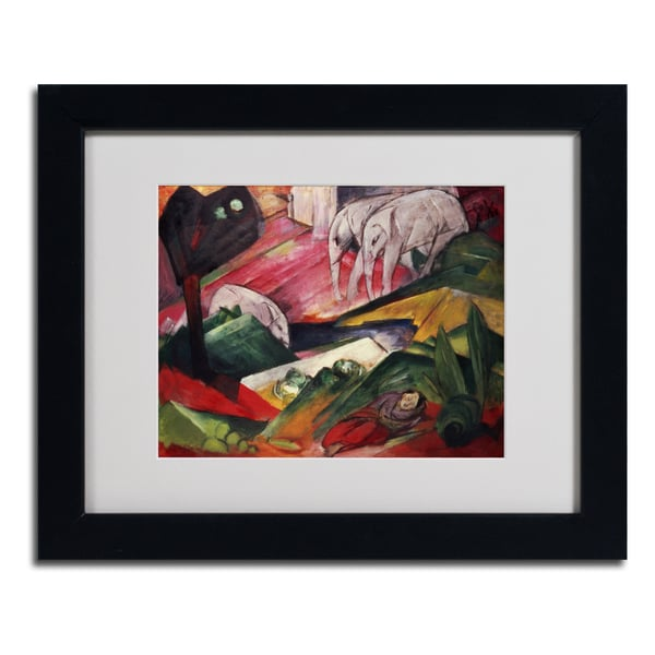 Franz Marc 'The Dream' Framed Matted Art