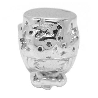 De Buman Sterling Silver Big Cap Girl Charm Bead