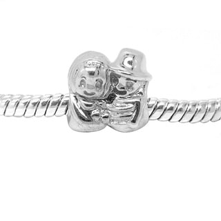 De Buman Sterling Silver Match Couple Charm Bead