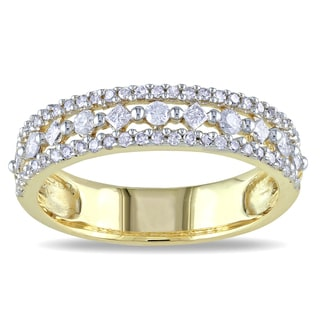 Miadora 10k Yellow Gold 1/2ct TDW Diamond Ring (H-I, I2-I3)
