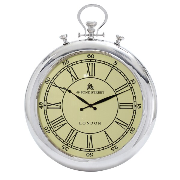 49 bond street classic 31inch metal wall clock