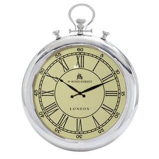 49 Bond Street Classic 31-inch Metal Wall Clock