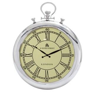 49 Bond Street Classic 31-inch Metal Wall Clock