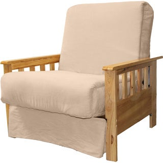 Provo Perfect Sit and Sleep Mission-style Pillow Top Futon Chair