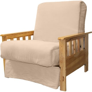 pine canopy shenandoah mission style pillow top futon chair  more options available  sleepers for less   overstock    rh   overstock