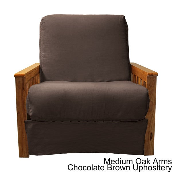 Provo Perfect Sit And Sleep Mission Style Pillow Top Futon Chair Free Shipping Today Com 15727873