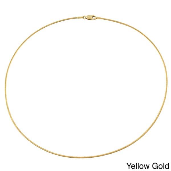 Fremada 14k Gold 1.5-mm Omega Necklace (16-inch)