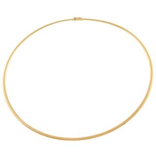 Fremada 14k Yellow Gold 2.5-mm Omega Necklace (16-inch)