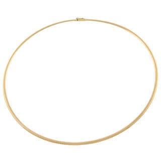Fremada 14k Yellow Gold 2.5-mm Omega Necklace (18-inch)