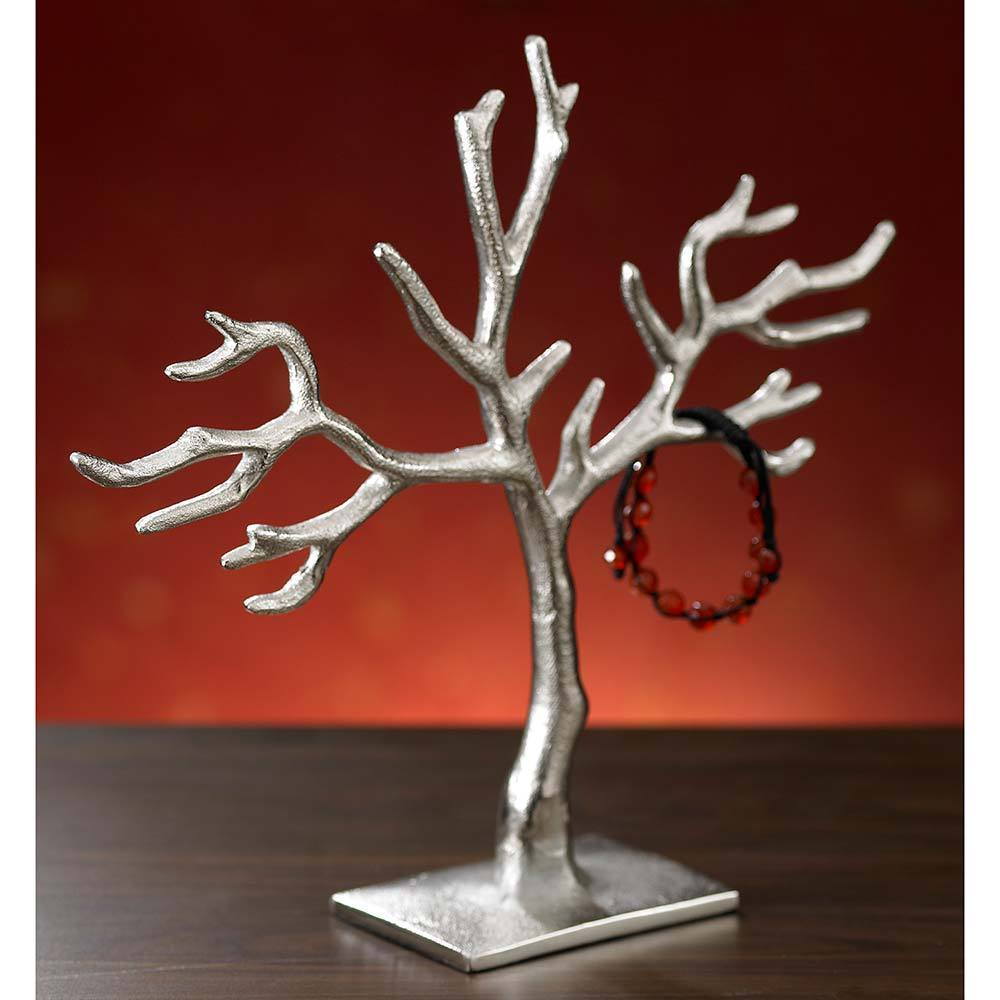 KINDWER 20-branch Casted 'Tree of Life' Jewelry Holder (2...