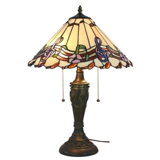 Musical Notes Amora Lighting Tiffany Style Table Lamp