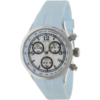 Nautica Women's A17537L White Dial Blue Resin Quartz Watch