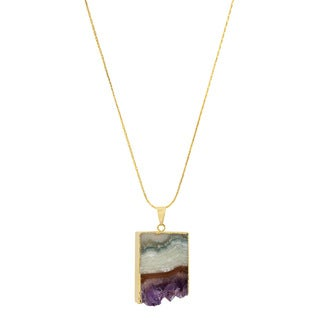 American Coin Treasures Copper Amethyst Slice Necklace