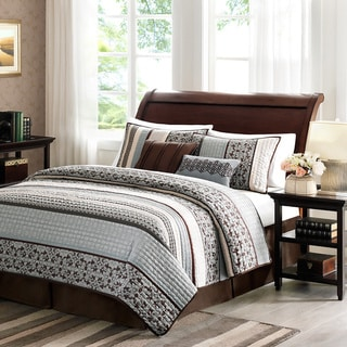 Madison Park Harvard Blue 5-piece Coverlet Set