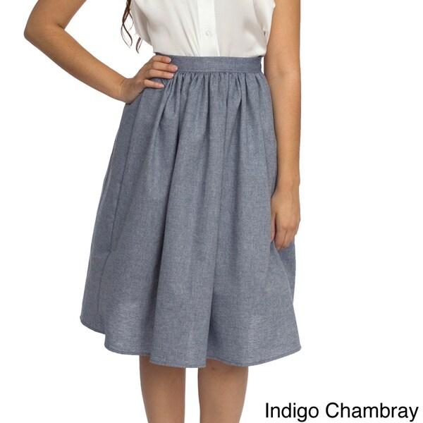 American Apparel Women's Mid-length Full Woven Skirt