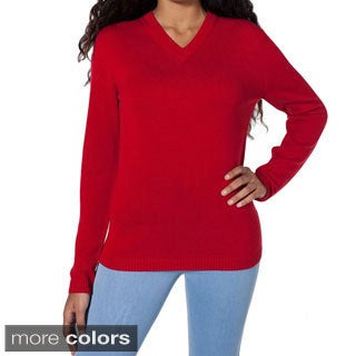 American Apparel Unisex Wool V-neck Sweater