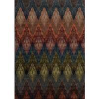 "Chevron Ikat Multicolored Rug (6'7 x 9'6) - 6'7"" x 9'6"""