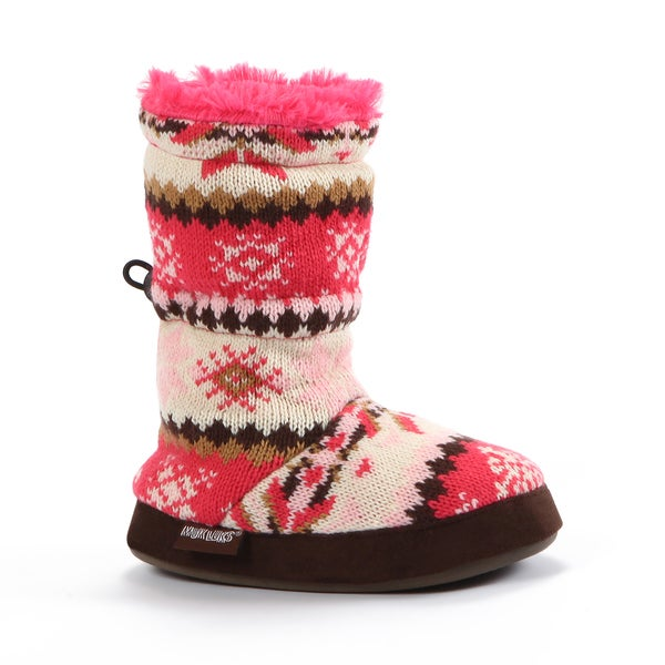Muk Luks Snowflake Nordic Slipper Boot