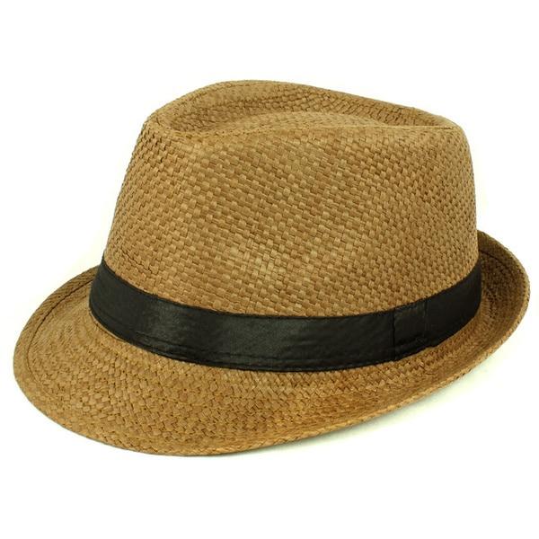 Faddism Straw Fedora Hat. Opens flyout.