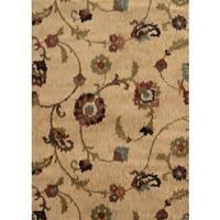 """Floral Ikat Tan/ Multi Rug (7'8 x 10'10) - 7'8"""" x 10'10"""""""