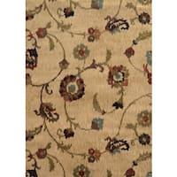 """Floral Ikat Tan/ Multi Rug (3'10 x 5'5) - 3'10"""" x 5'5"""""""