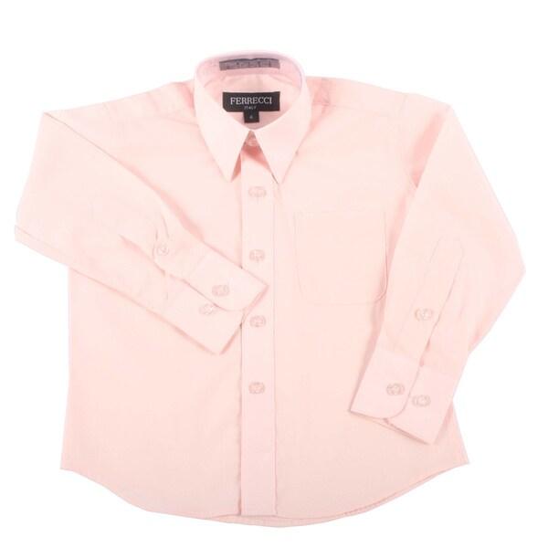 Ferrecci Boys Slim Fit Pink Collared Formal Shirt