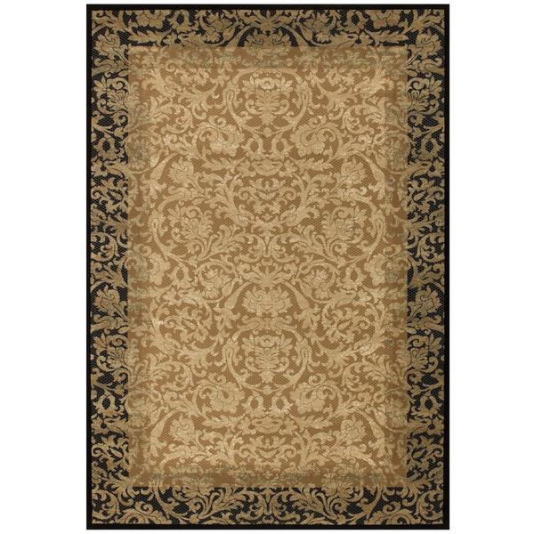 "Everest Fontana Gold- Black Area Rug - 7'10"" x 11'2"""