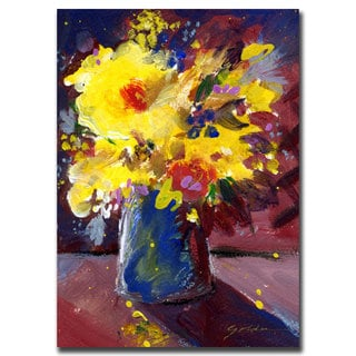 Sheila Golden 'Yellow Flowers' Canvas Art