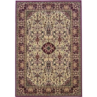 Couristan Everest Ardebil/Ivory-Red Area Rug - 5'3 x 7'6