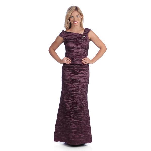Alex Evenings Women's Amethyst Taffeta Full Length Dress