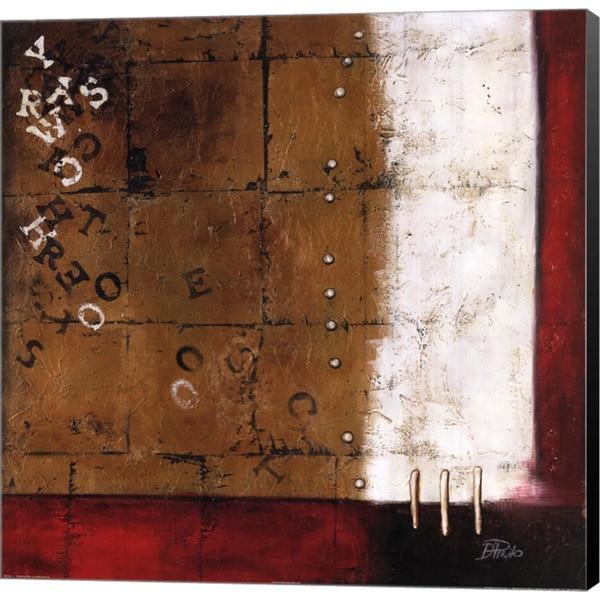 Patricia Pinto 'Red Contemporary III' Canvas Art
