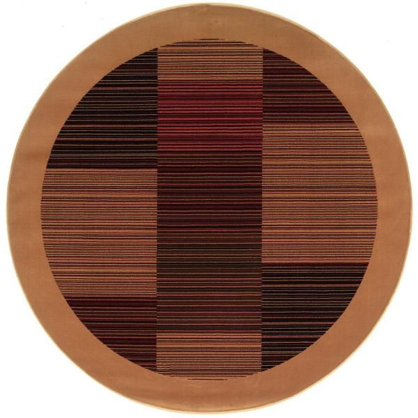 "Everest Hamptons Camel Round Area Rug - 3'11"" round"