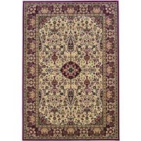 """Everest Ardebil Ivory- Red Area Rug - 7'10"""" x 11'2"""""""