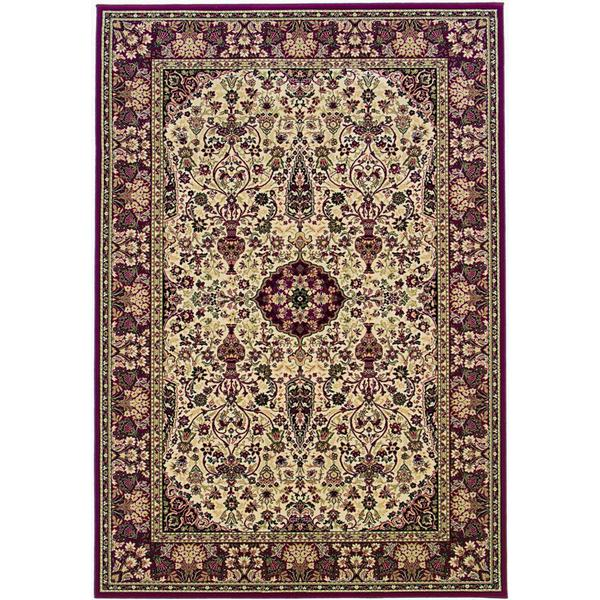 "Everest Ardebil Ivory- Red Area Rug - 7'10"" x 11'2"""
