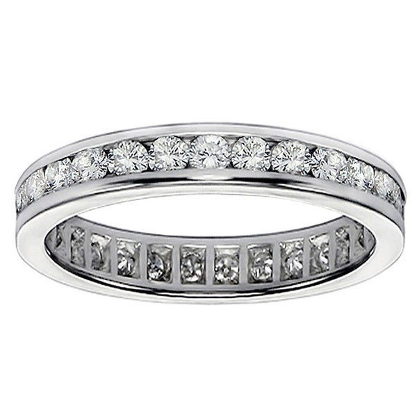 14/ 18k Gold 1.1 - 1.3ct TDW Diamond Eternity Band (G-H, SI1-SI2)