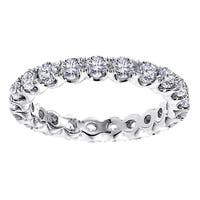 14k/ 18k White Gold 1 3/4 - 2ct TDW Diamond Eternity Band