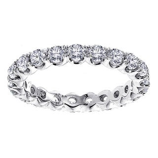 14k/ 18k White Gold 1 3/4 - 2ct TDW Diamond Eternity Band (More options available)