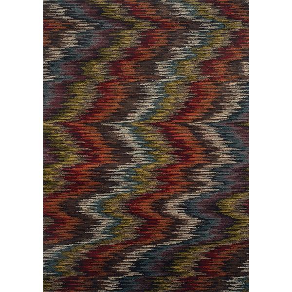 Modern Ikat Multi/ Black Rug