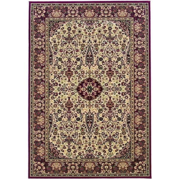 "Couristan Everest Ardebil/Ivory-Red Area Rug - 3'11"" x 5'3"""