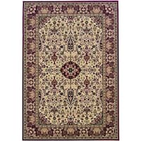 Couristan Everest Ardebil/Ivory-Red Area Rug - 3'11 x 5'3