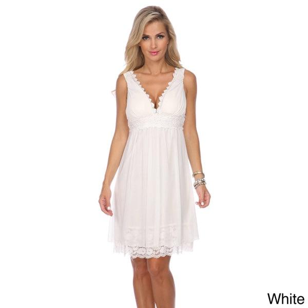 Stanzino Women's V-neck Embellished Party Dress