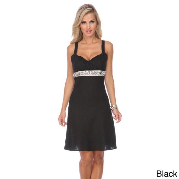 Stanzino Women's Sleeveless Embellished Mini Dress